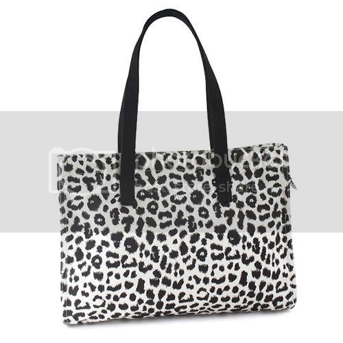 Leopard-Print Canvas Bag